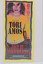 M. ARMINSKI 1996 TORI AMOS ORPHEUM THEATRE VANCOUVER HANDBILL POSTCARD