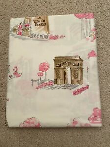 Paris  Toile 100% Cotton Twin  Sheet  Flat New made in Israel