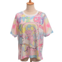 Women's Crew Neck Harajuku Animal Pattern Printing Short-Sleeved Loose T-Shirt
