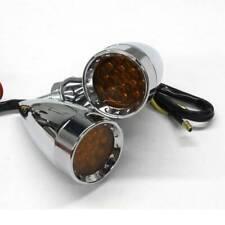 For Harley Davidson Chrome Motorcycle Led Turn Signal Amber Blinker Brake Lights