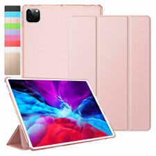"""For iPad Pro 12.9"""" 4th Gen 2020 Case Slim Shell Leather Flip Smart Stand Cover"""