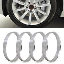 4pcs Aluminum Hub Rings 72.6mm to 74.1mm Wheel Bore | ID 72.56 | OD 74.1 For BMW