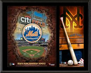 """New York Mets Sublimated 12"""" x 15"""" Team Logo Plaque"""