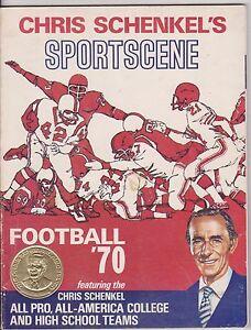 Chris Schenkel's Sportscene Football 1970, Excellent Condition