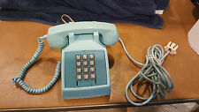 Vintage Turquoise Aqua Blue Bell System by Western Electric Desk Phone