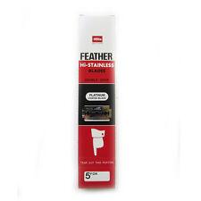 100 x Feather Razor Shaving Blades HI-STAINLESS Double edge Platinum coated Red