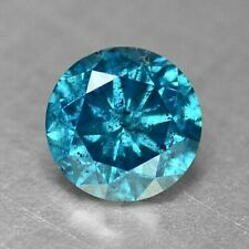 0.38 Carat NATURAL Sparkly Titanic BLUE DIAMOND LOOSE for Setting Round Cut