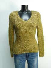 Jersey de diseño talla S/marrón & como nuevo-con mohair (n 8321)