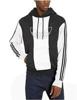 adidas Originals Men's Off Court Trefoil Pant,, Black/Black/White, Size Medium p