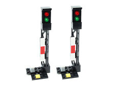 2x LEGO Eisenbahn Signal in schwarz NEU