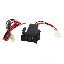 New Car 2.1A Dual USB  Cellphone Charger + Audio Input Fit Nissan