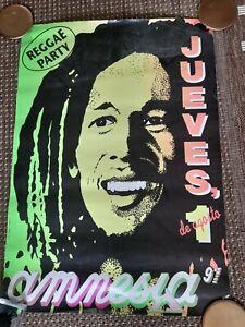 Amnesia reggae party   ibiza poster 1991 rave flyer