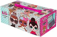 L.O.L. Surprise! Colouring Case with 52 Pieces, Pens, Crayons, Pencil, Rubber