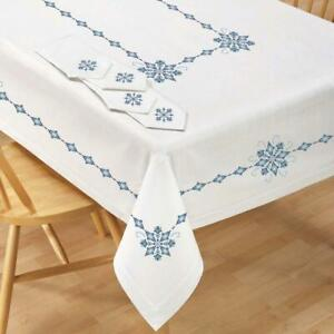 Village Linens™ Majestic Tablecloth Stamped Cross-Stitch