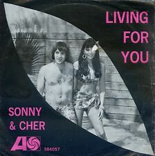 7inch SONNY & CHER living for you GERMAN VG++ +PS