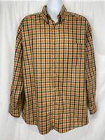 Talbots Mens Dress Shirt Size XL Button Up L.S. Multi Colored Plaid Cotton