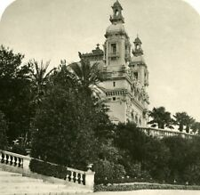 France French Riviera Monte Carlo Casino Old Stereoview Photo 1900