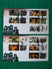 More details for 2020 queen album covers collectors smilers set of 10 over 2 fdc hyde park pmk