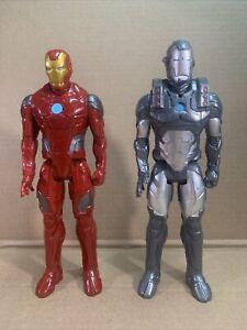 "Hasbro Iron Man & War Machine 12"" Marvel Figures HTF"
