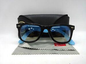 Rayban Wayfarer RB2140 1001/3F Blue and Black Classic Gradient Sunglasses