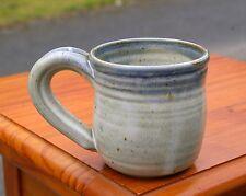 Handthrown Spun Pottery Art Coffee Mug Cup Signed Waltz Grey Gray Blue