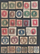 US ACCUMULATION OF POSTAL STATIONERY CUT OUTS (ID:265/D56148)