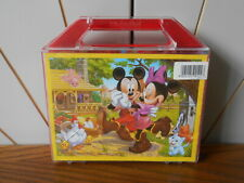 MICKEY AND MINNIE MOUSE character picture puzzle blocks CLEMENTONI Disney