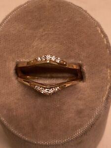 14k Yellow Gold Diamond Enhancer Ring Guard