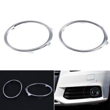 1 Pair Electroplating Front Fog Light Rings Trim Cover for Audi A4 A4L B8 09-12