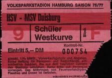 Ticket BL 76/77 Hamburger SV - MSV Duisburg
