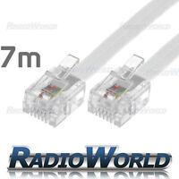 7M Metre RJ11 TO RJ11 Cable Broadband Modem / Internet Lead Long DSL White RJ-11