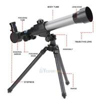 20X 30X 40X Refractor Astronomical Telescope Combo Tripod Stand Holder Kids Toys