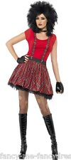Ladies Sexy Instant Punk 1980s 80s Tartan Tutu Fancy Dress Costume Outfit Kit