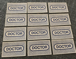 Operation Game 1996 Hasbro UK Ltd - Spare Parts - Doctor Cards (12)