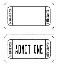 Unmounted Rubber Stamp - Tickets Admit One - 7056