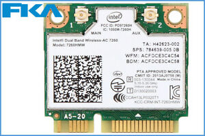 New Intel Dual Band Wireless 7260AC 7260HMW Half Mini PCIe PCI-express Wifi Card
