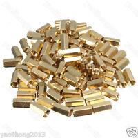 100Pcs M3 10mm Hexagonal Net Nut Female Brass Standoff Spacer PCB Board New