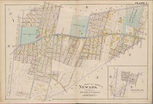 1906 VAILSBURG NEWARK ESSEX COUNTY NEW JERSEY HOLLAND AV - S. 20TH ST ATLAS MAP