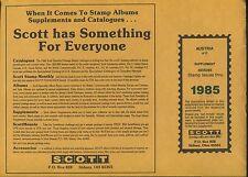 New 1985 Scott Austria #17 Stamp Album Supplement Pages #300S085