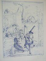 Commedia Dell Arte XIV-B Etching Listed Artist J. A. Pecsenke (1942-1989) S/N