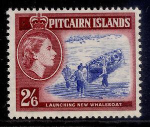PITCAIRN ISLANDS QEII SG28, 2s 6d ultramarine & lake, LH MINT. Cat £26.