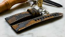 Vintage distressed tan strap compatible with  Panerai .24mm