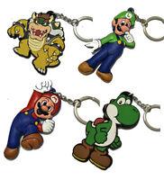 Retro Game Keychain Nintendo Nes Snes Super Mario Toad Mushroom Yoshi KeyChain
