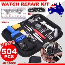 504pcs Watch Repair Tool Kit Watchmaker Back Case Opener Remover Spring Pin Bars