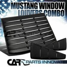 Ford Mustang 05-14 Negro ABS 1/4 lado Lumbreras de ventana de ventilación + Cubierta Trasera Parasol
