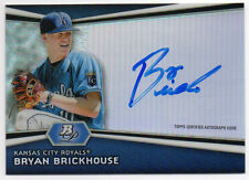 2012 Bowman Platinum BRYAN BRICKHOUSE Auto Rookie RC - Royals