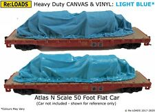 LIGHT BLUE Tarped Covered Sheeted Model Road & Rail Load, Large N Smaller HO OO