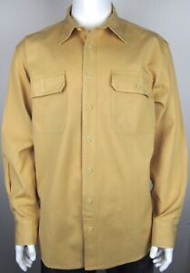 Cabela's Deerskin Button Down Yellow Barn Hunting Shirt Large Tall LT