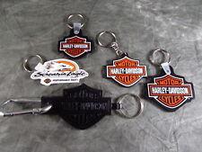 Lot Of 5 Harley Davidson Kentucky, Finland, Canada, Pennsylvania  Key Chain Fob
