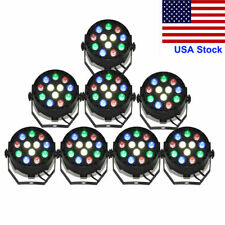 8pcs RGBW 12LED Par Light DMX512 Stage Lighting Club KTV Wedding DJ Disco Party